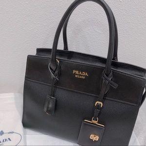 Prada Bags - PRADA Nero Black Borsa A Mano Saffiano+City C ca409b8b6dda
